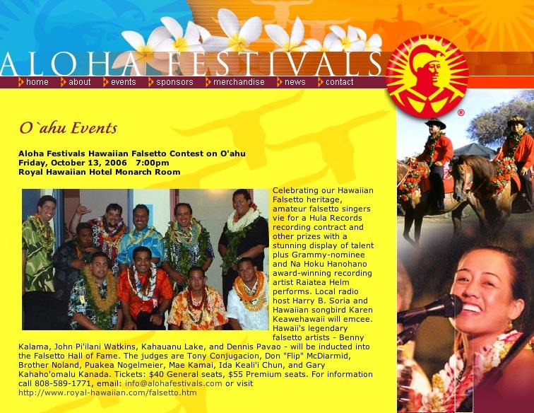 Aloha Festivals Hawaiian Falsetto Contest on O'ahu