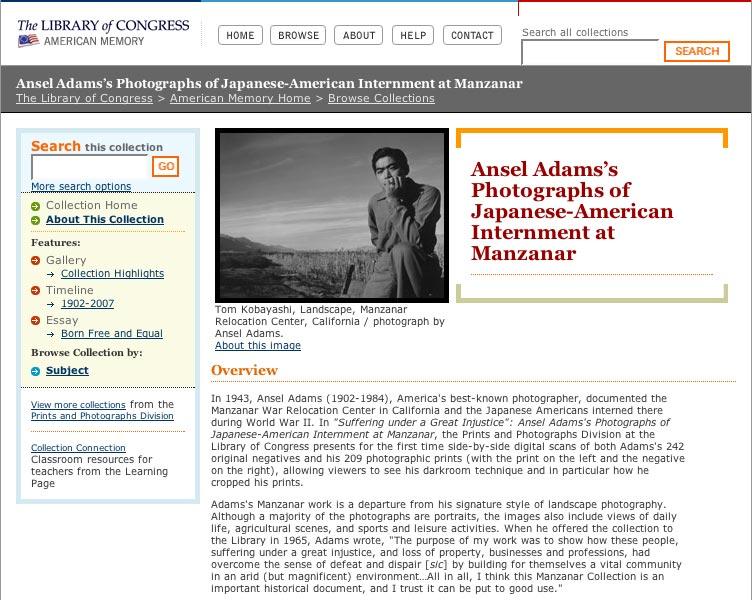 Ansel Adams's Photographs of Japanese-American Internment at Manzanar