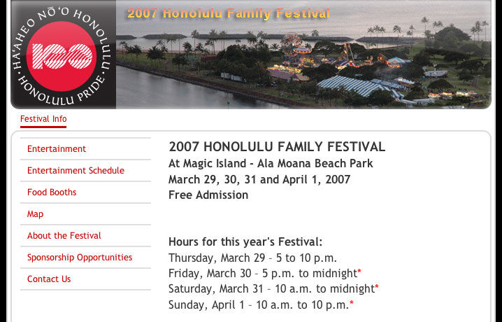 Honolulu Family Festival 2007