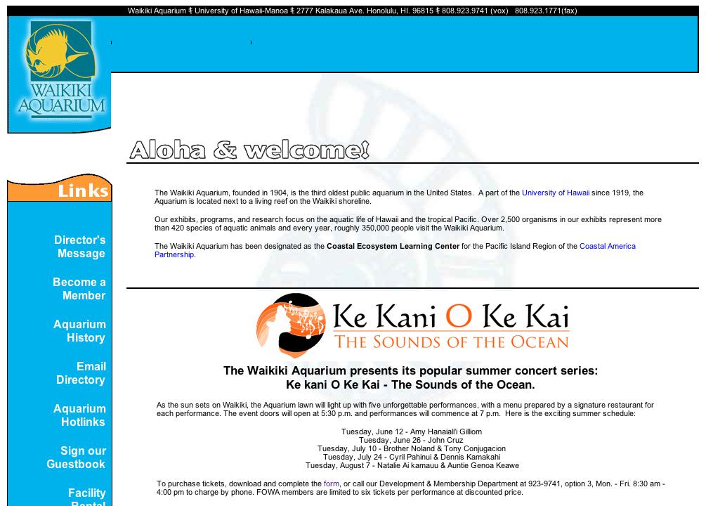 ワイキキ水族館「ケカニオケカイ」サウンドオブオーシャンサマーコンサート