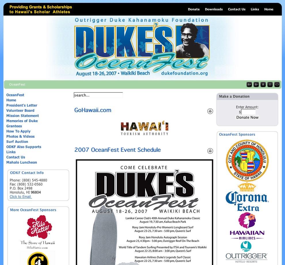 デュークスオーシャンフェスト(Duke's Ocean Fest)