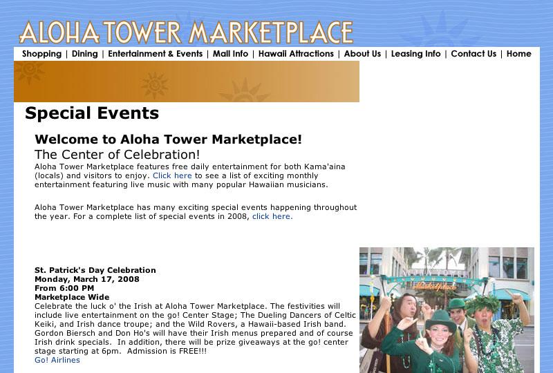 Aloha Tower Marketplace St. Patrick's Day Celebration