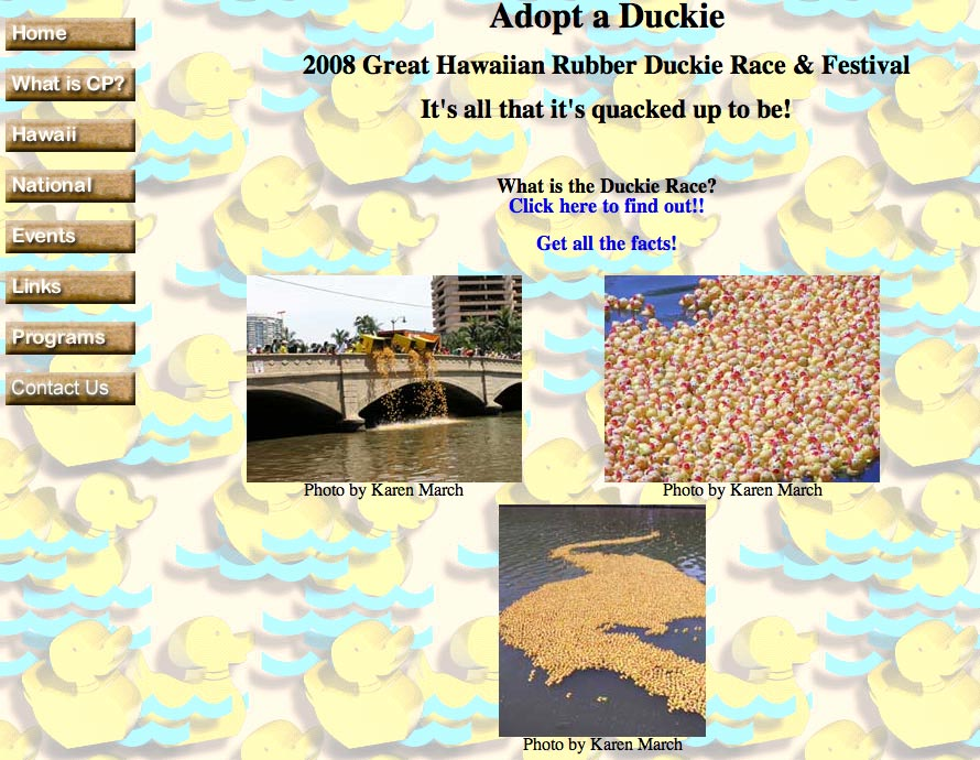 The 21st Annual Great Hawaiian Rubber Duckie Race & Festival
