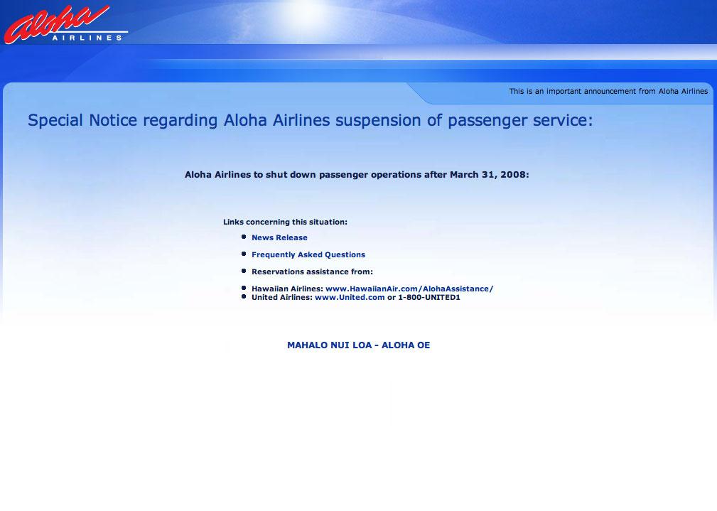 Aloha Airlines Aloha Oe