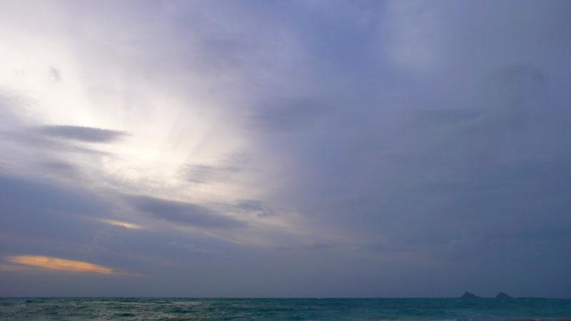 曇りの日のカイルアビーチ