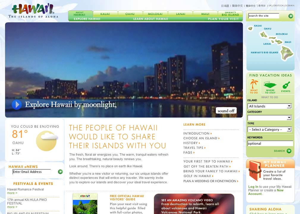 Hawaii's Official Tourism Site