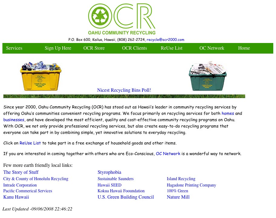 Oahu Community Recycling 262-2724