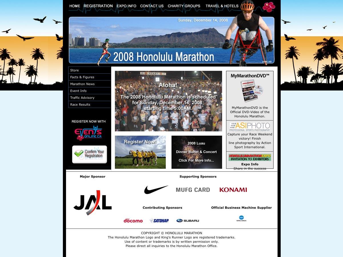 ホノルルマラソン 2008